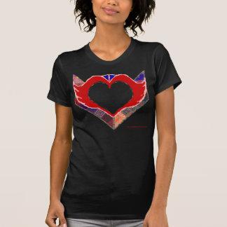 Camiseta de la oscuridad del corazón de la