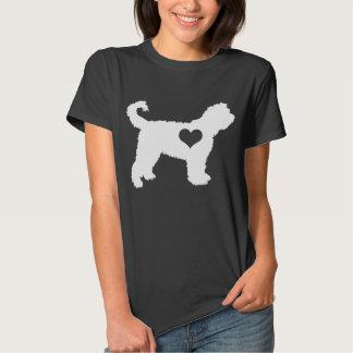 Camiseta de la oscuridad del corazón del perro de playeras