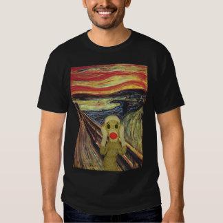 Camiseta de la oscuridad del grito del mono del remeras