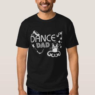 Camiseta de la oscuridad del papá de la danza polera