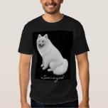 Camiseta de la oscuridad del perro del samoyedo playera