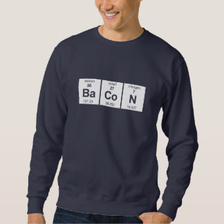 Camiseta de la oscuridad del tocino sudadera con capucha