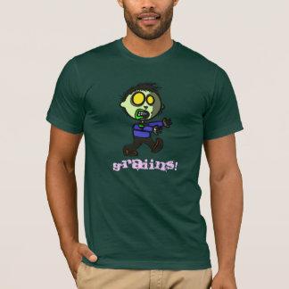 Camiseta de la oscuridad del zombi del vegano