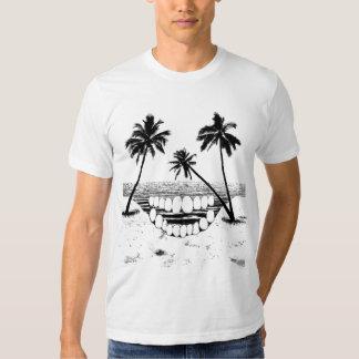 Camiseta de la palmera del cráneo playeras
