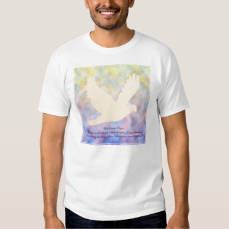 Camiseta de la paloma de la serenidad playeras