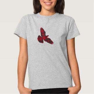 Camiseta de la paloma del tartán remera