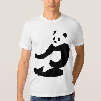 Camiseta de la panda de la paz camisas