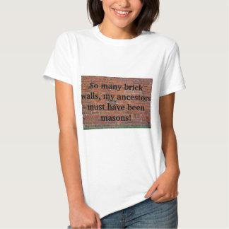 "Camiseta de la ""pared de ladrillo"" de la poleras"