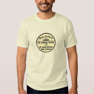 Camiseta de la PARTIDA de NACIMIENTO de Obama Polera