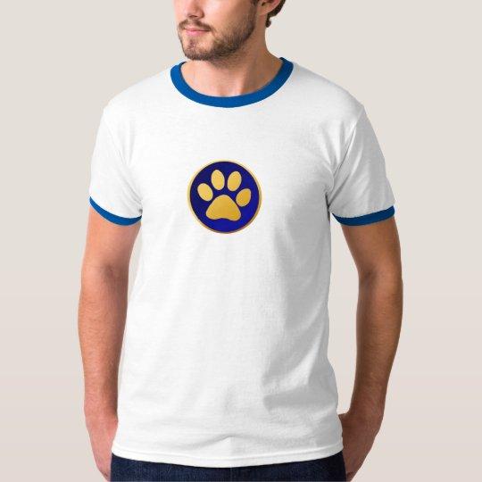 Camiseta de la pata del gato de oro