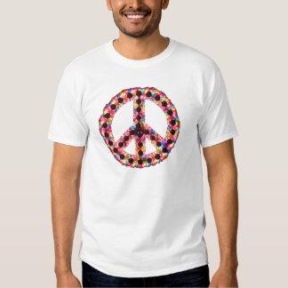 camiseta de la paz 5-Color Remera