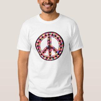 camiseta de la paz de 5 colores poleras