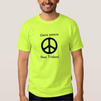 Camiseta de la paz de Indyref del escocés Geez Playera