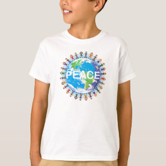 Camiseta de la paz de los niños - niños que