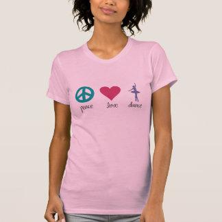 Camiseta de la paz, del amor y de la danza