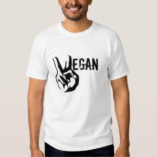 Camiseta de la paz del vegano playeras