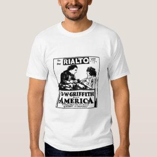 Camiseta de la película muda de D.W. Griffith Amér Playera