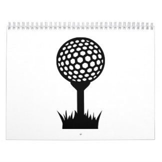Camiseta de la pelota de golf calendarios de pared