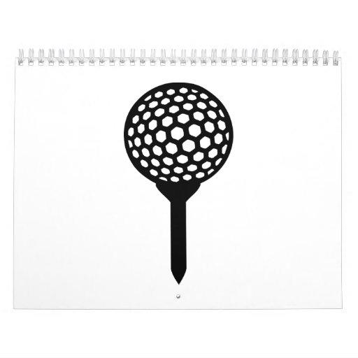 Camiseta de la pelota de golf calendarios