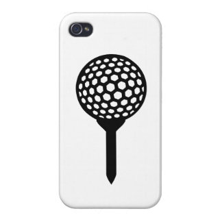 Camiseta de la pelota de golf iPhone 4 coberturas