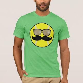 Camiseta de la pelota de tenis del bigote