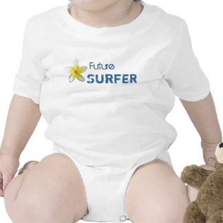 Camiseta de la persona que practica surf del bebé