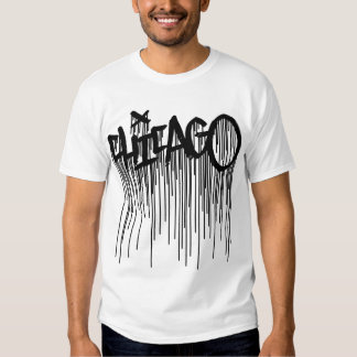 Camiseta de la pintada de Chicago con los goteos Camisas