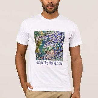 Camiseta de la pintura al óleo de Sakura