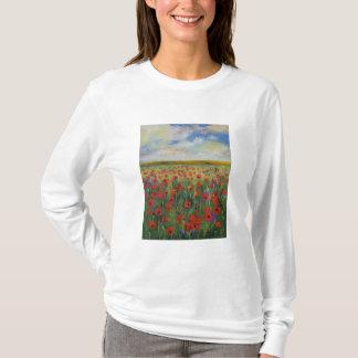 Camiseta de la pintura de la amapola