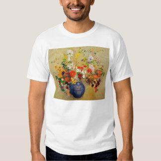 Camiseta de la pintura de la flor del vintage camisas