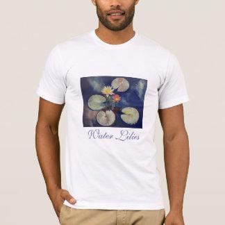 Camiseta de la pintura del lirio de agua