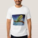 Camiseta de la pintura del Parakeet Poleras