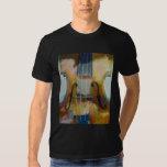 Camiseta de la pintura del violín poleras