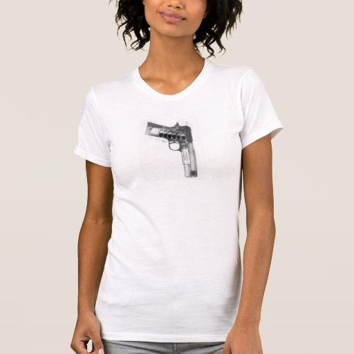 Camiseta de la pistola playera