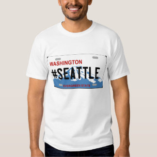 Camiseta de la placa de Washington Seattle Playera