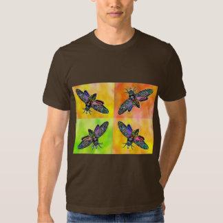 Camiseta de la polilla 4 del gótico poleras