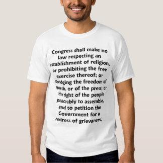 Camiseta de la Primera Enmienda Poleras