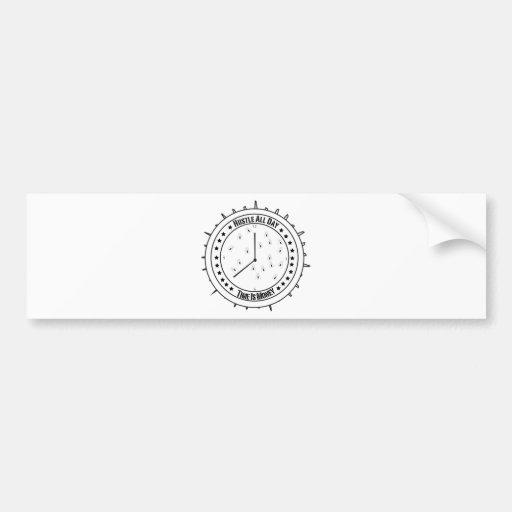 Camiseta de la prisa etiqueta de parachoque