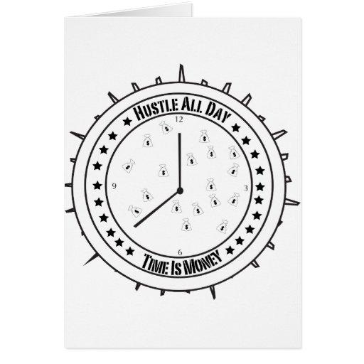 Camiseta de la prisa tarjeta de felicitación