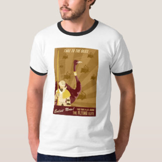 Camiseta de la propaganda de la arcada playera