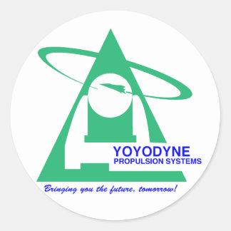 Camiseta de la propulsión de Yoyodyne Pegatina Redonda