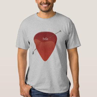 Camiseta de la púa de guitarra polera