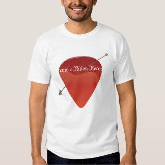Camiseta de la púa de guitarra remera