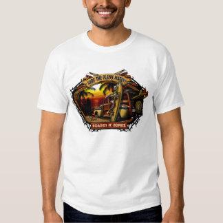 Camiseta de la puesta del sol de Davey Bonez Woody Playeras