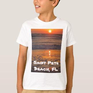 Camiseta de la puesta del sol de la playa del St.