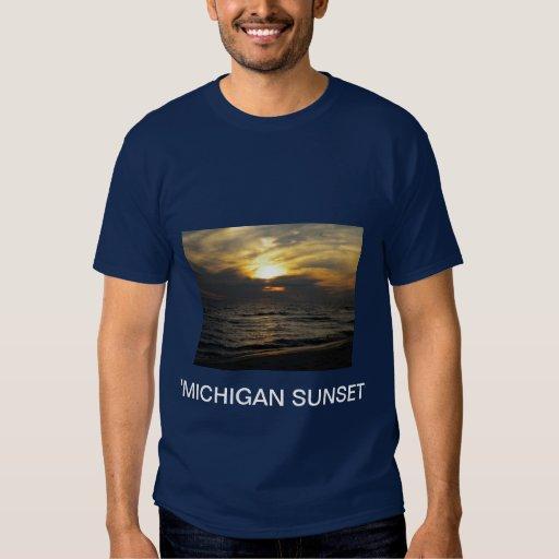 Camiseta de la puesta del sol de Michigan Camisas