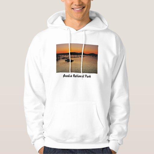 Camiseta de la puesta del sol del Acadia Pulóver