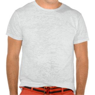Camiseta de la quemadura de las FLORES ROJAS Y BLA