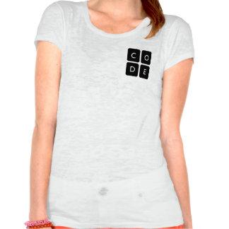 camiseta de la quemadura de las mujeres de playeras