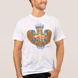 Camiseta de la quemadura de los hombres cruzados c